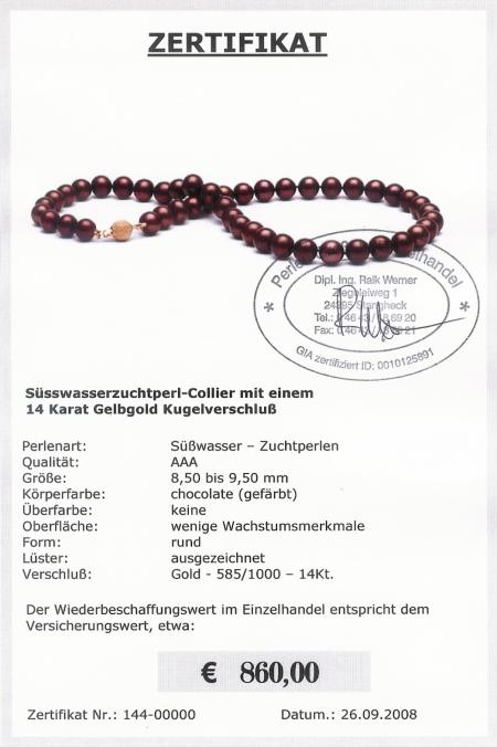Collier Chocolate vom Edelkontor